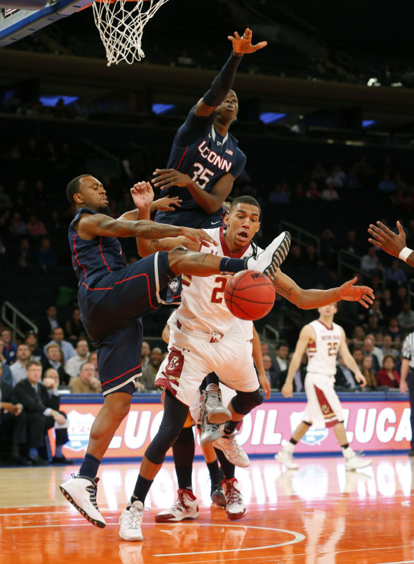 Ryan Boatright and Amida Brimah | Jim O'Connor-USA TODAY Sports